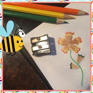 Аппликации с детьми из карандашной стружки