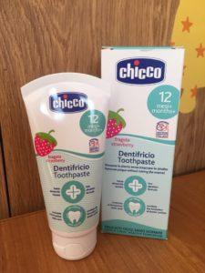 Зубная паста Chicco Клубника 12м+