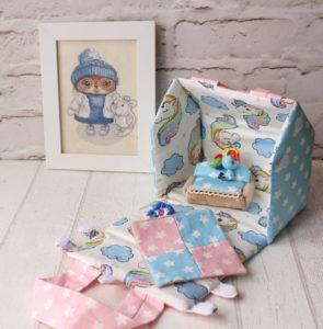 Текстильный домик-сумочка Ольги Беловой